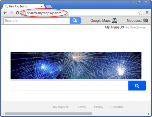 Search.mymapsxp.com Homepage Image