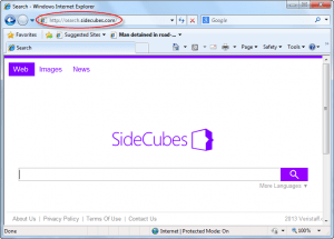 Search.sidecubes.com Homepage Image
