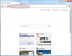 Searchomepage.com Homepage Image