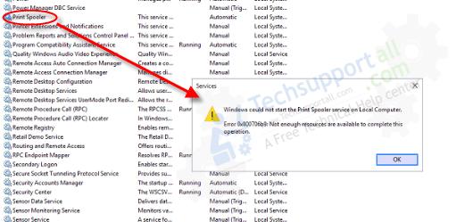 Print Spooler Error Code- 0x800706b9 Image