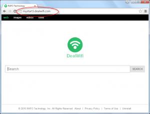 Mystart3.dealwifi.com Homepage Image
