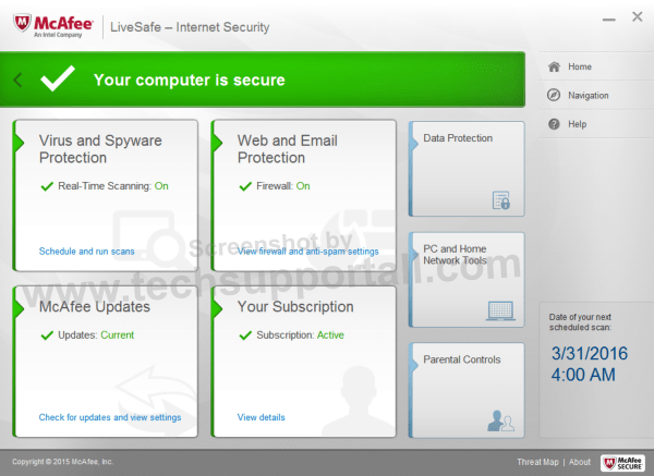 Intel McAfee LiveSafe Internet Security