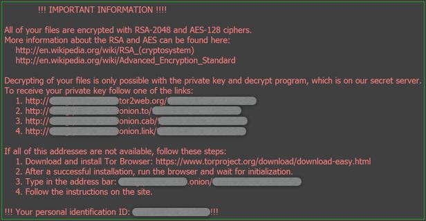 Locky Desktop Message