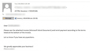 Locky Spam Email