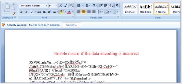 Ransomware Macro in Doc file
