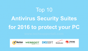 Top 10 Best Antivirus suites 2016 for windows 10