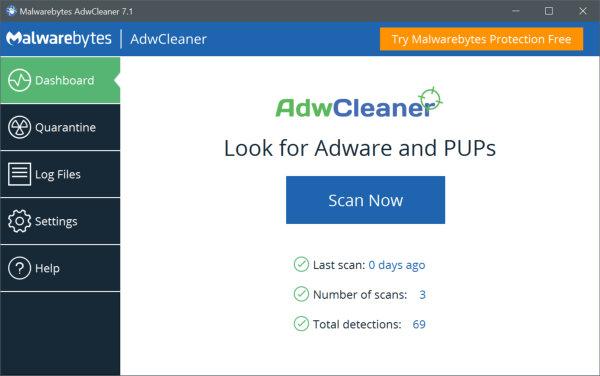 AdwCleaner by Malwarebytes