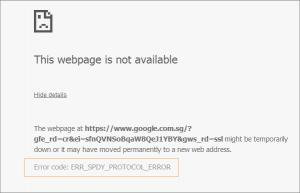 Chrome Error Code ERR_SPDY_PROTOCOL_ERROR