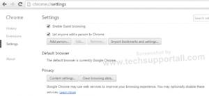 Chrome Enable / Disable Pop ups