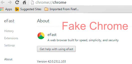 eFast Browser - Fake Chrome