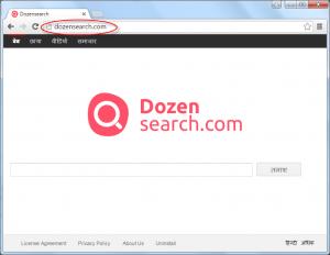 Dozensearch.com Homepage Image