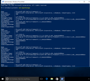 Powershell remove Built in Apps in Win 10