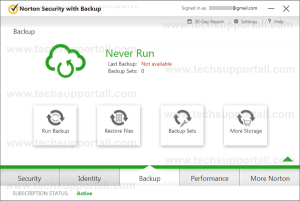 Norton Backup