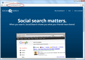 Social2search.com Homepage Image