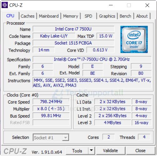 CPU-Z system information tool