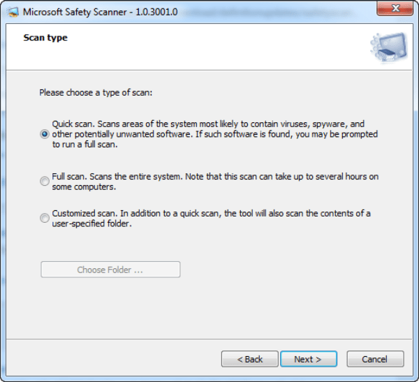 Download microsoft Safety Scanner