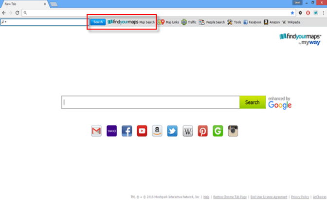 FiindYourMaps Toolbar hp.myway .com homepage Image - How To Get Rid Of Myway Enhanced By Google