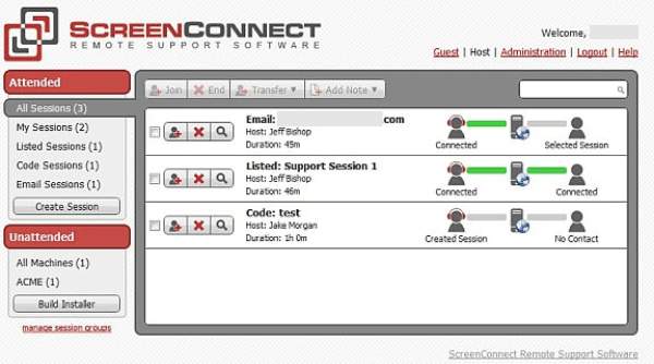 Screen Connect Remote Desktop Sharing Software