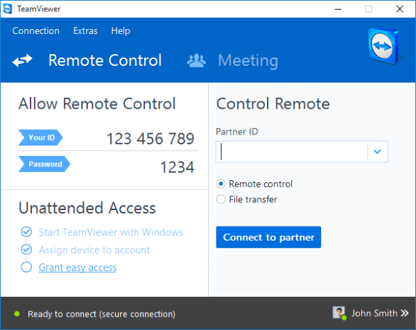 Team Viewer Remote Desktop Software