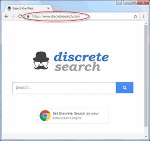 Discretesearch.com Homepage Image
