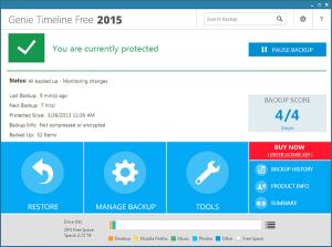 Genie Time Line Free Data backup