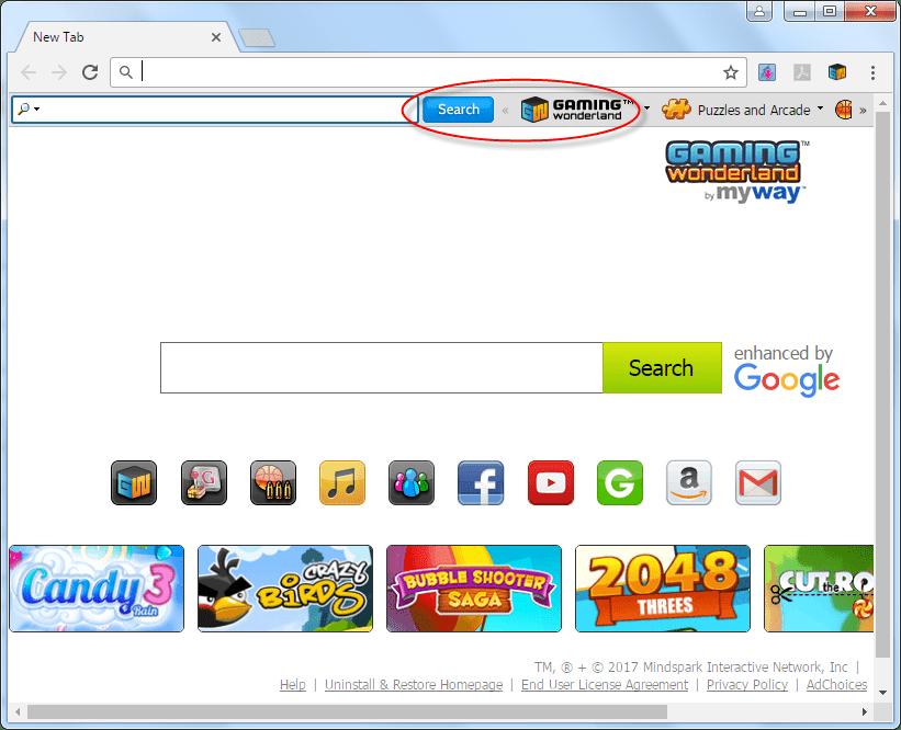 Gamingwonderland Homepage by myway Image