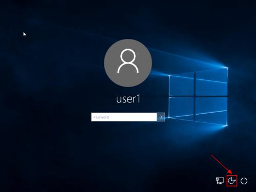 Reset Password Login Screen