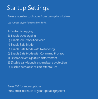 Restart Windows 10 in Safe mode