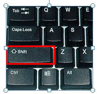 Shift Button Keyboard