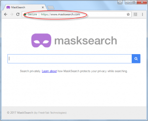 MaskSearch.com Homepage Image