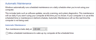 What is Automatic Maintenance in Windows 10 and How to