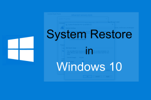 System Restore Point in Winodws10