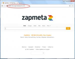 Zapmetasearch.com Homepage Image