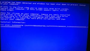 bsod stop error at windows startup error 0x0000007b