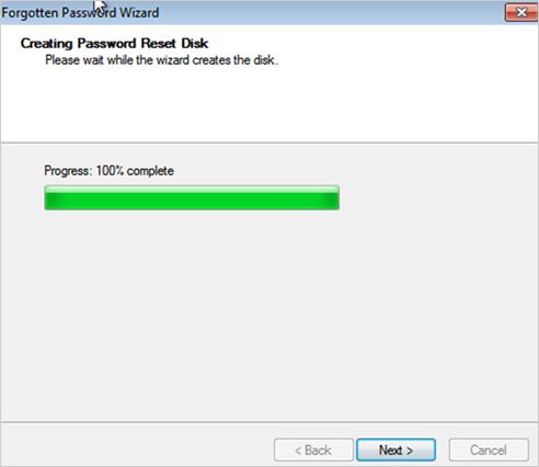 password reset disk in windwos 10 complete