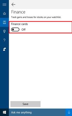 Cortana Cards