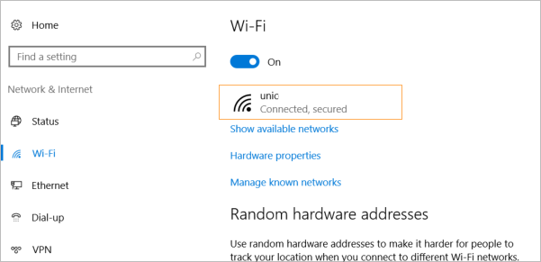 metered network setting windows 10