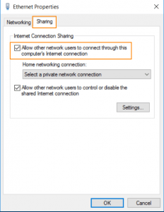 Share Internet Connection - Windows 10