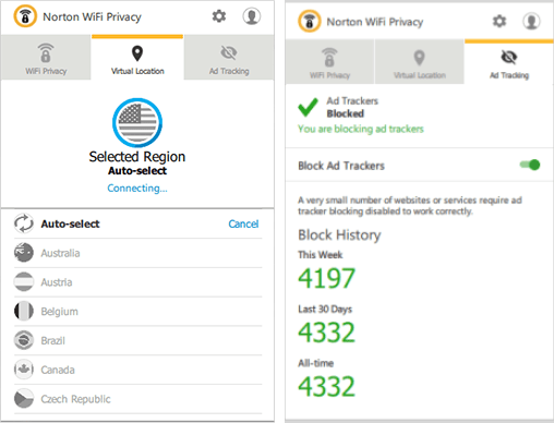 Norton Wi Fi Privacy VPN