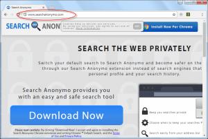 Searchanonymo.com Homepage Image
