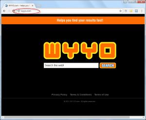 Wyyo.com Homepage Image