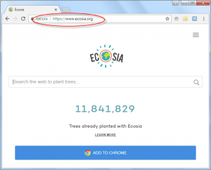 Ecosia.org Homepage Image