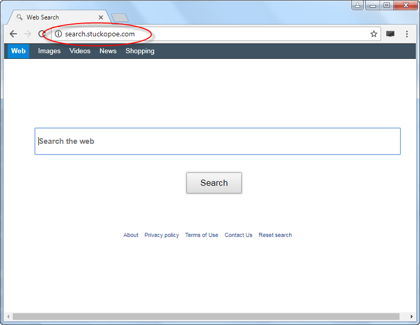 Search.stuckopoe.com Homepage Image