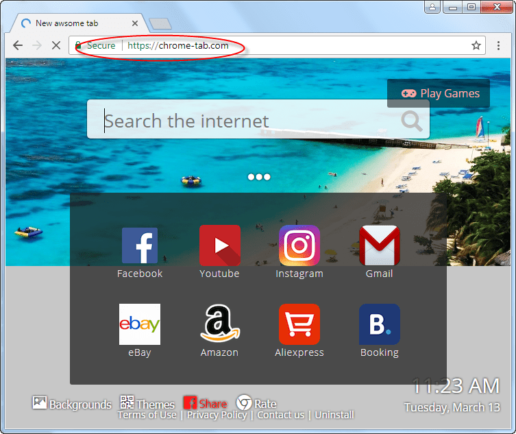 chrome-tab.com homepage image