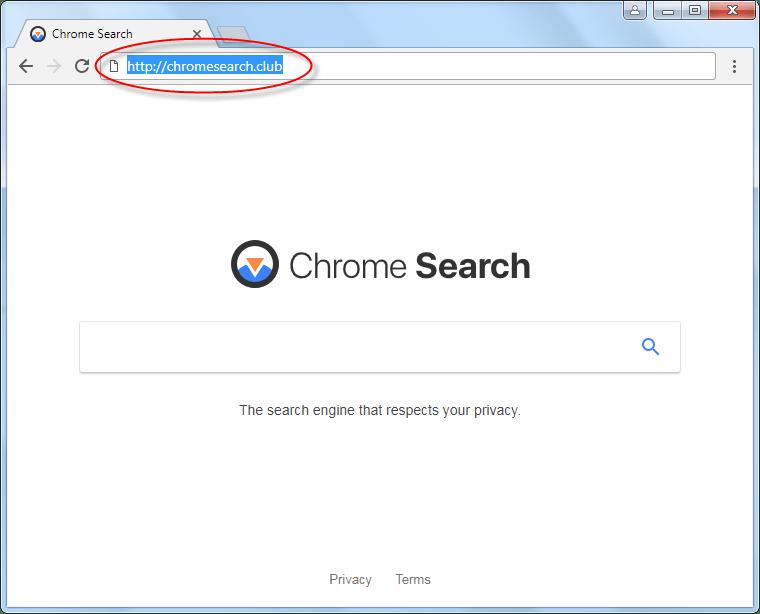 delete chromeSearch.club homepage