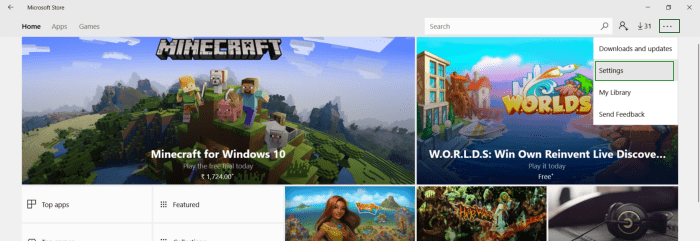 How to stop Windows 10 to download Apps and Games automatically