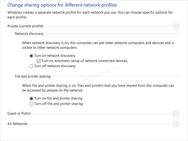 how to set network discovery in windows 10