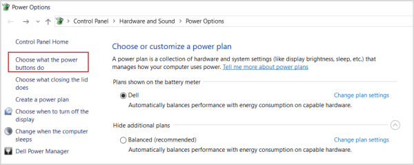 How to enable hibernate option in power menu in Windows 10