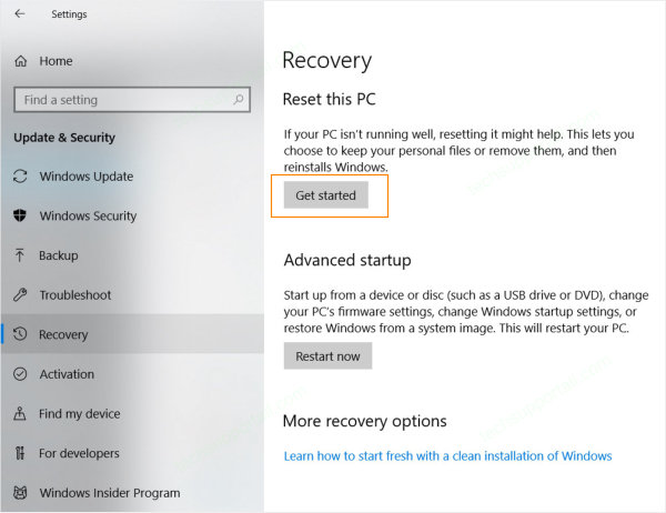 How to Reset Windows 10 PC.