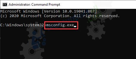 Open Msconfig